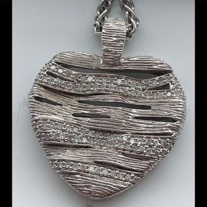 Effy 925 sterling silver and diamond heart pendant
